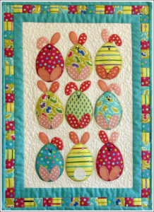 Easter Egg Bunnies Wall Hanging