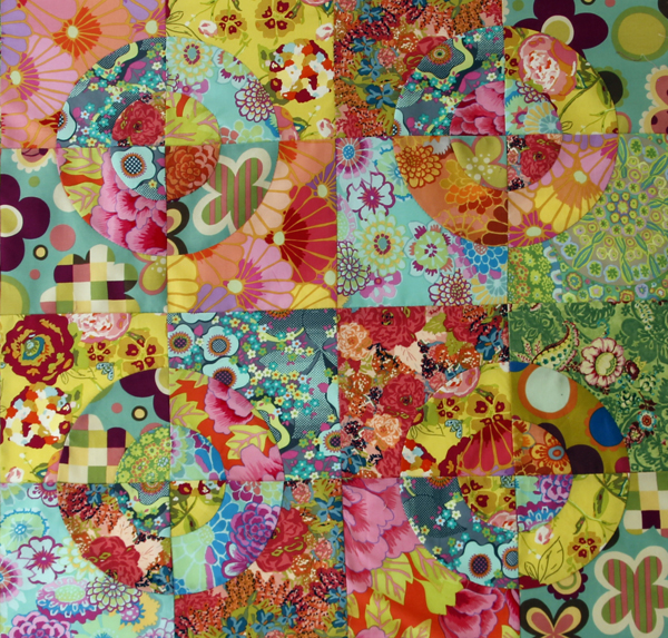 Curved piecing quilts