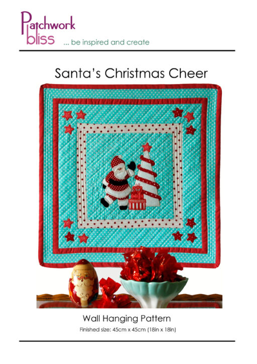 Santa's Christmas Cheer Wall hanging Pattern