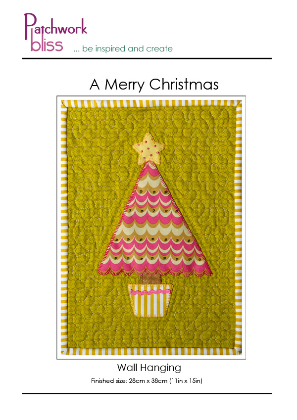 A Merry Christmas Wall Hanging Pattern