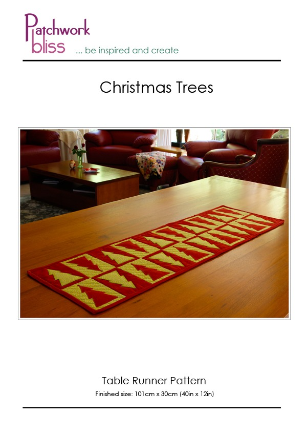 Christmas Tree Table Runner Pattern
