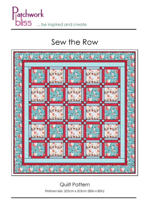 Sew the Row Quilt Pattern